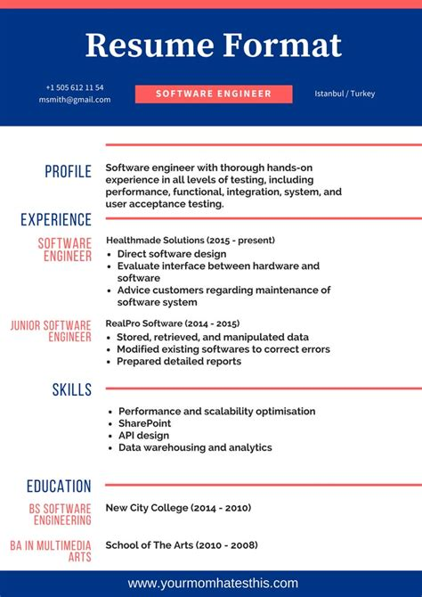 Resume Format by Resume Formats Pdf Templates