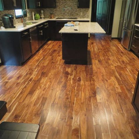 hardwood floors in kitchen pros and cons hardwood acacia