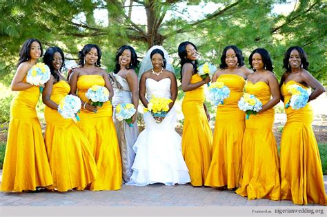 yellow bridesmaids dresses colourful bridesmaids wedding bells