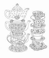 Coloring Tea Printable Issuu Cup Adult Sheets Colouring Mandala Elegant sketch template