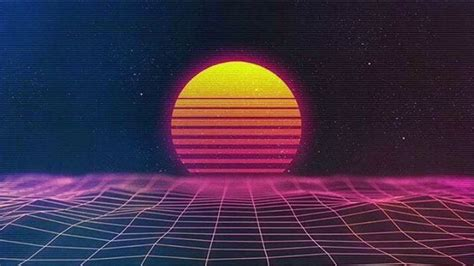synth wave video game title menu  youtube