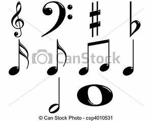 Clipart of 3D Music Notes - 3d music notes isolated in ...
