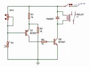Temperature Relay Controller Switch Circuit
