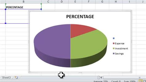 pie chart  excel  steps  pictures