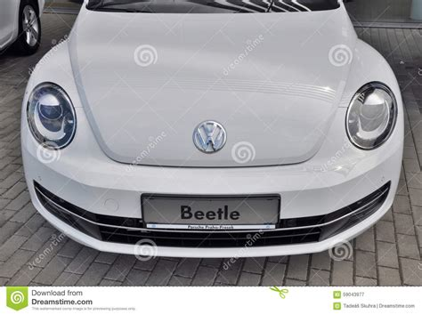 White Wolkswagen Beetle Editorial Photography. Image Of