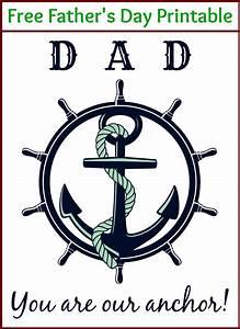 Anchor Father's Day Printable - Deja Vue Designs