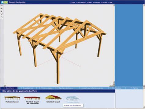 carport planen software carport bau am 3d simulator