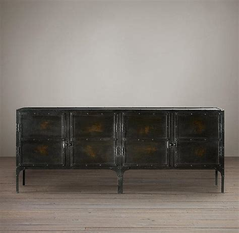 industrial tool chest sideboard  restoration hardware