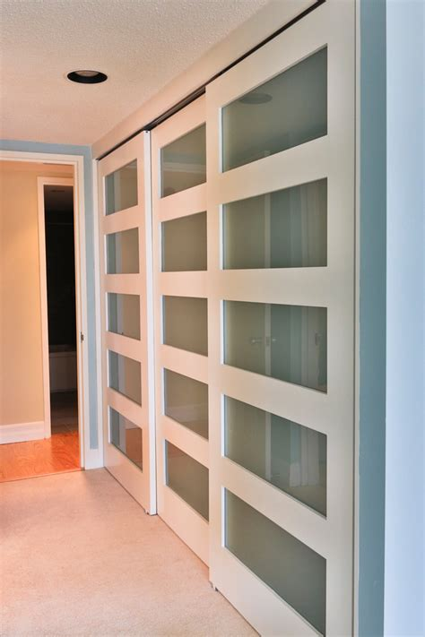 modern closet doors bedroom contemporary  built