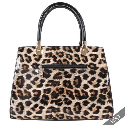 animal print crossbody bag womens patent leather animal print tote handbag grab