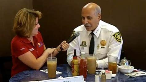 county commissioner ritter interviews sheriff lamberti tamarac