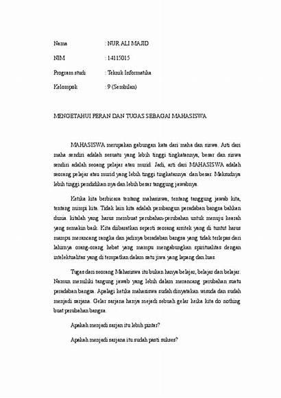 Contoh Essay Mahasiswa Tugas Academia Doc Edu