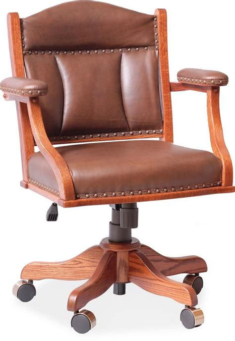 wood and leather desk chair amish desk arm chair leather upholstery surrey street rustic