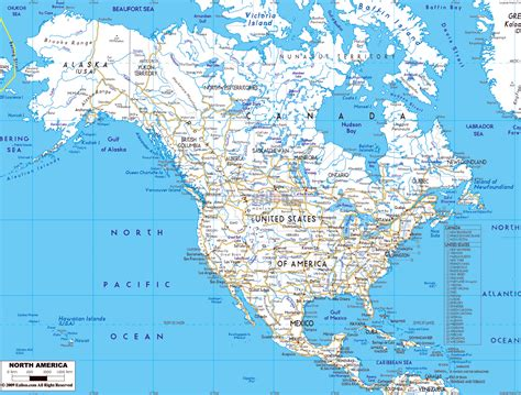 maps  north america  north american countries