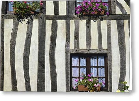 typical house  timbered  normandy france europe photograph  bernard jaubert