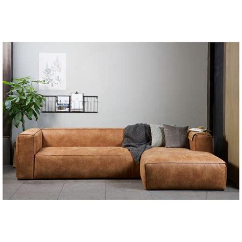 rachat de canapé canapé d 39 angle droit cuir cognac bean by drawer