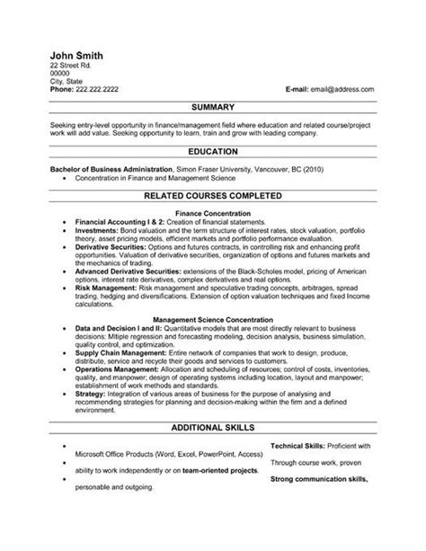 Recent Graduate Resume Template by Click Here To This Recent Graduate Resume