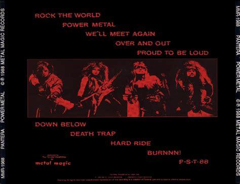 Boneyard Metal 80's Metal Pantera (usa)  Power Metal (1988