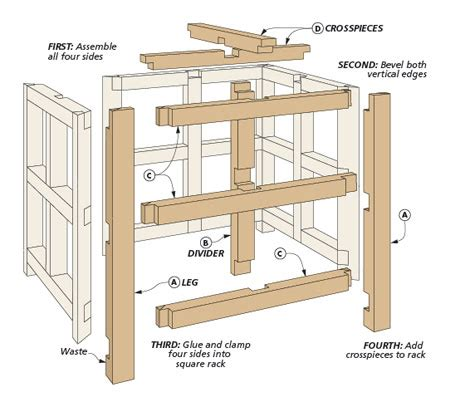 countertop wine rack woodsmith plans