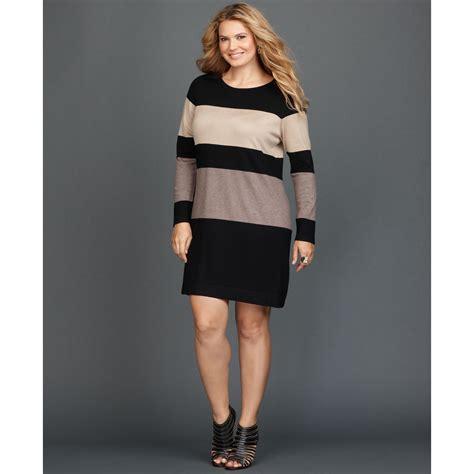 colored sweater dress inc international concepts plus size longsleeve colorblock