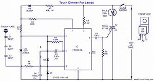 A Simple Touch Dimmer Circuit Diagram Using Tt6061 Ic