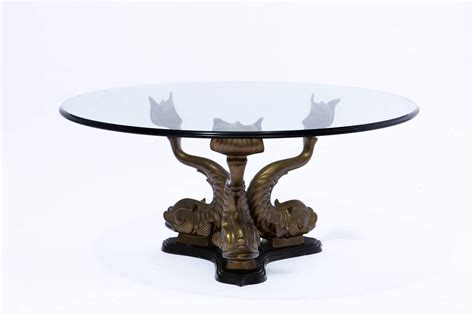 Sea life with dolphins, rays and sea turtles sculptured coffee table. Brass Italian Dolphin Coffee Table at 1stdibs