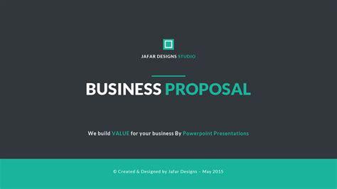 business proposal powerpoint template  jafardesigns