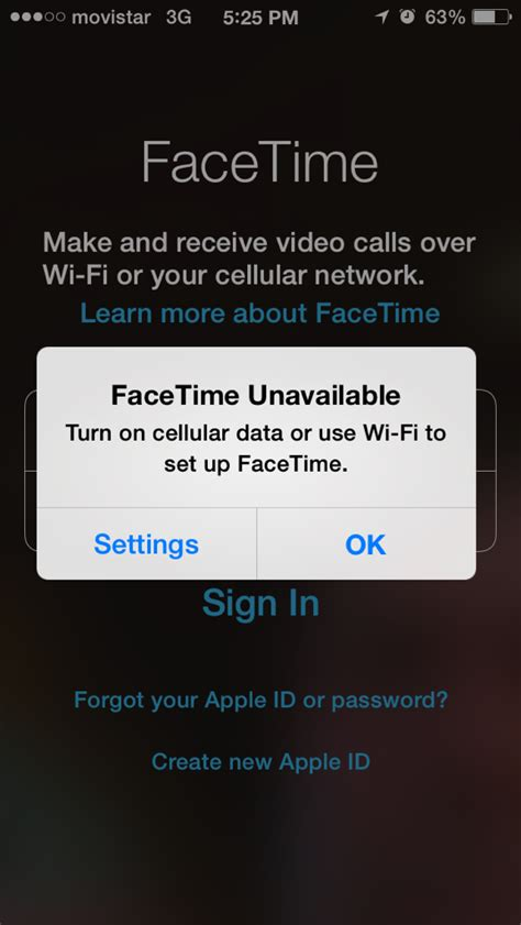 iphone 5s not working facetime not working on iphone 5s but will work on