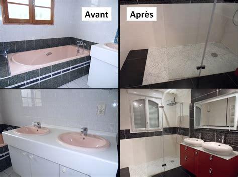 salle de bain avant apres installation de portes et fen 234 tres par pelluau menuiserie exemples de r 233 alisations