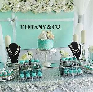 Tiffany and Co backdrop and dessert table By Stylish ...