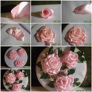 DIY Embroidery Ribbon Roses