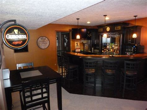 Home Bar Colors by Basement Pub The Black Cabinets And Using The