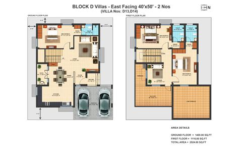 Bhk Duplex Villa - Architecture Plans