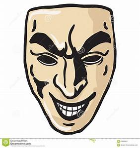 Evil smile mask stock vector. Image of wicked, teeth ...