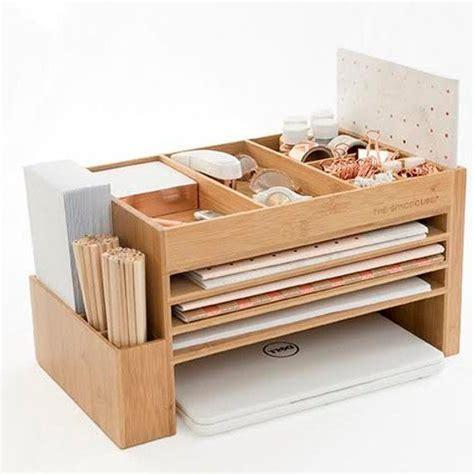 wooden stationery paper organiser cute desk accessories
