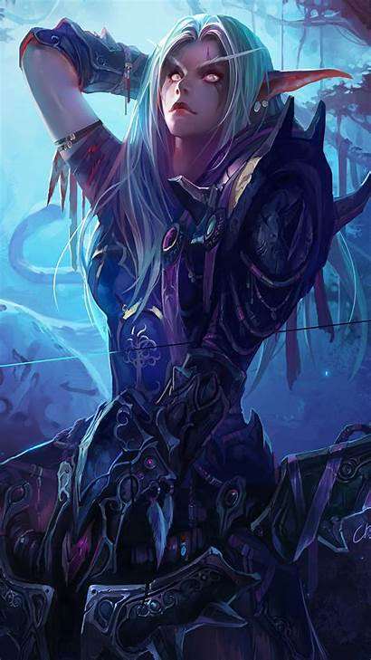 Sylvanas 4k Windrunner Wow Warcraft Fantasy Backgrounds