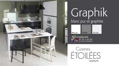 les cuisines les meubles de cuisine graphik blanc pur et graphite