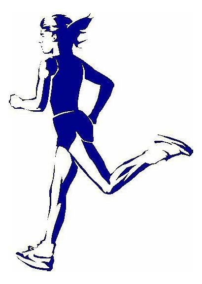 Runner Cross Country Running Clip Female Clipart
