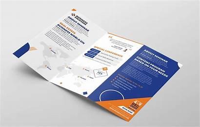 Brochure Fold Tri Event Template Corporate Inside