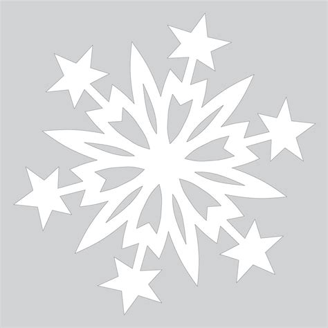 Snowflake Template Paper Snowflake Pattern With Cut Out