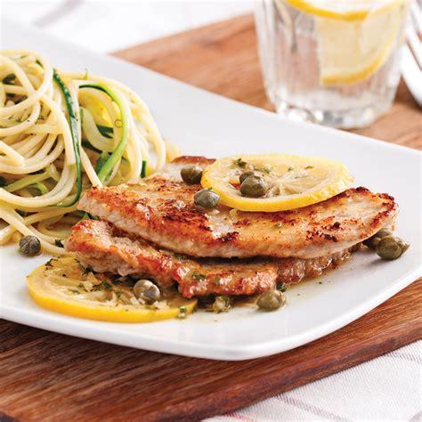 veau cuisine escalopes de veau piccata recettes cuisine et