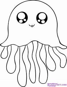 How to Draw a Cartoon Jellyfish, Step by Step, Cartoon ...