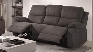 canape de relaxation 3 places moderne en tissu russell With tapis de sol avec canape avec repose jambes