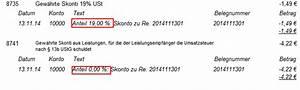 Rechnung Buchen : buchung skonto bei rechnung mit 13b finanzen banking orgamax bedienung ~ Themetempest.com Abrechnung