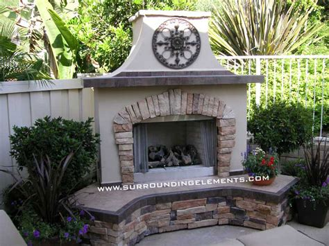 outside fireplace design outdoor fireplaces by surrounding elements
