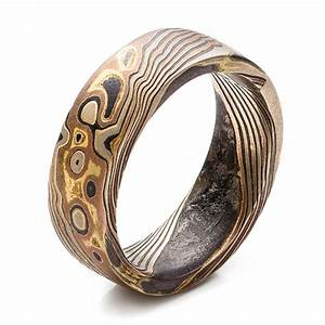 custom men39s mokume wedding band 101215 With mokume wedding rings