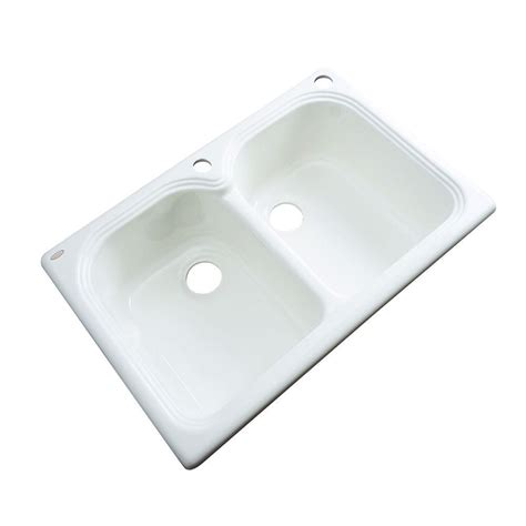 Drop In Porcelain Kitchen Sink by Thermocast Brighton Drop In Acrylic 33x19x9 In 1