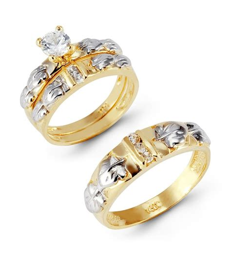 wedding rings sets gold wedding ring sets for and groom bridal sets