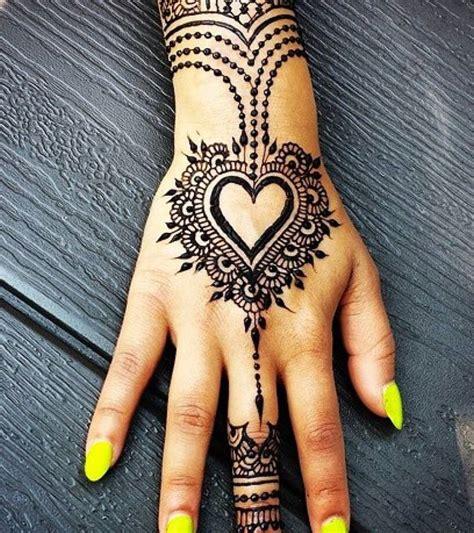 loved heart henna designs