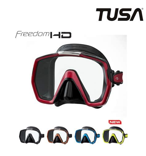 tusa freedom hd scuba mask qb scuba mask with wide visual range